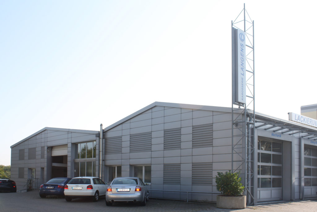 Fassadenerneuerung ŠKODA Werkstatt 1
